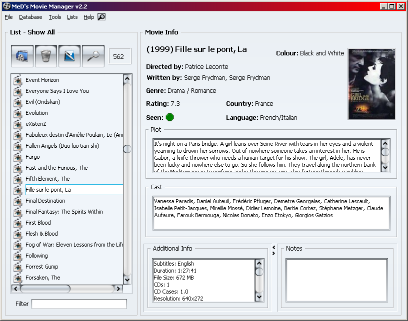MeD's Movie Manager 2.9.1.3 full
